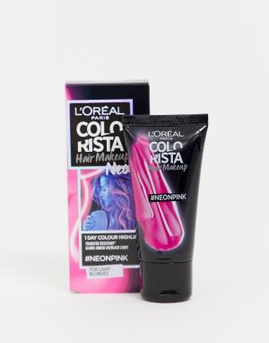 Розовая краска для волос LOreal Paris Colorista Hair Make Up Neon 21-Розовый цвет L Oréal Pa