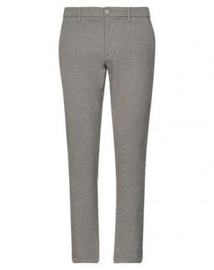 Повседневные брюки HAMAKI-HO. Цвет: голубиный серый