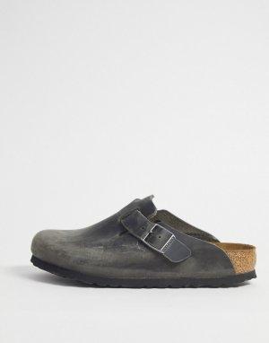 Серые мюли -Серый Birkenstock