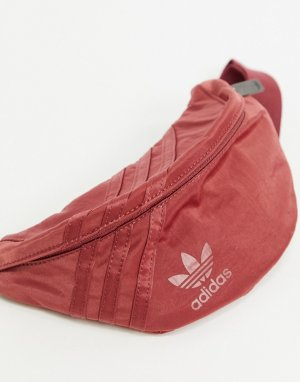 Красная сумка-кошелек на пояс с логотипом-трилистником -Красный adidas Originals