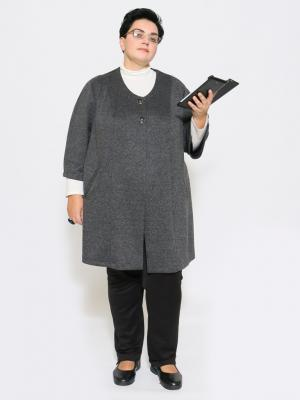 Жакет EVGENIA STYLE. Цвет: серый меланж