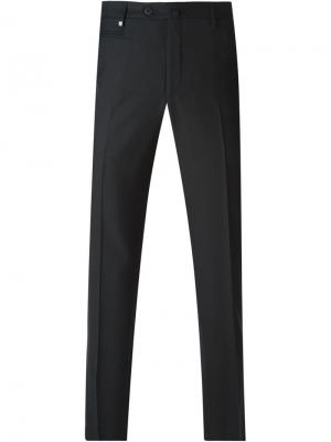 Классические брюки Corneliani. Цвет: чёрный