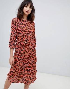 Платье с леопардовым принтом 2NDDAY 2nd Day. Цвет: мульти
