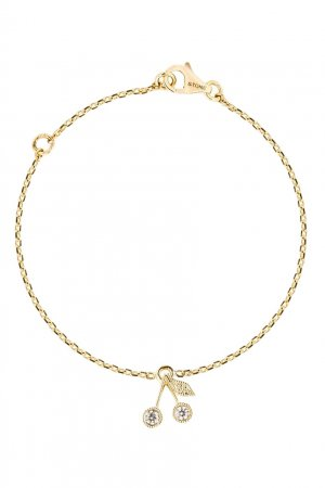 Золотое ожерелье с бриллиантом Bonpoint. Цвет: золотой