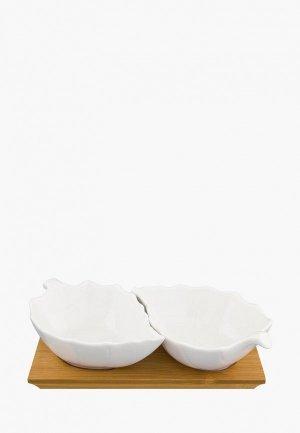 Набор посуды для сервировки Elan Gallery. Цвет: белый