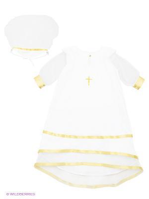 Комплект для крещения Ангел мой. Цвет: белый, золотистый