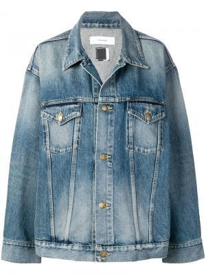 Джинсовая куртка с полосками Facetasm