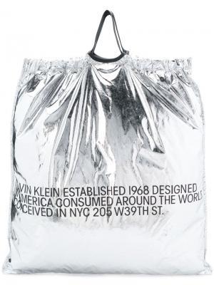 Квадратная сумка-тоут Calvin Klein 205W39nyc. Цвет: черный