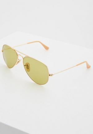 Очки солнцезащитные Ray-Ban® RB3025 90644C. Цвет: золотой