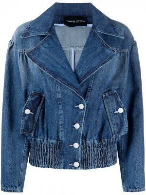 Джинсовая куртка на пуговицах Frankie Morello. Цвет: синий