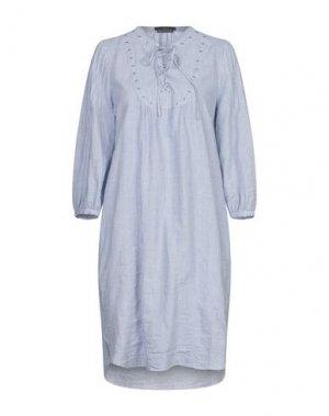 Короткое платье SET. Цвет: синий