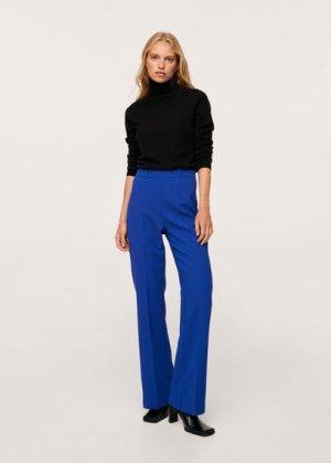 Расклешенные брюки с защипами - Macafler Mango. Цвет: синий