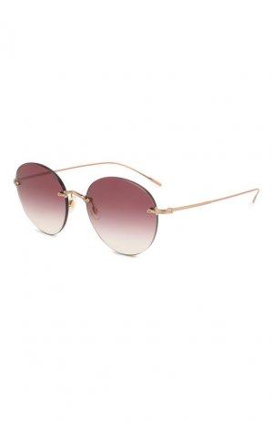 Солнцезащитные очки Oliver Peoples. Цвет: красный
