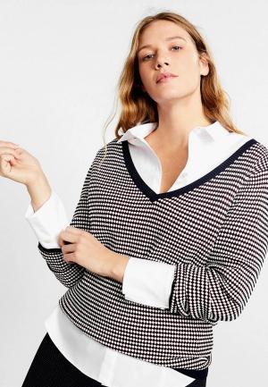 Пуловер Violeta by Mango - PATTERN. Цвет: белый