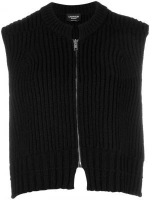 Вязаный жилет Calvin Klein 205W39nyc. Цвет: черный