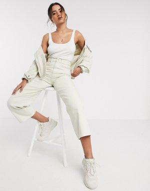 Светло-бежевая джинсовая oversized-куртка -Белый Vero Moda