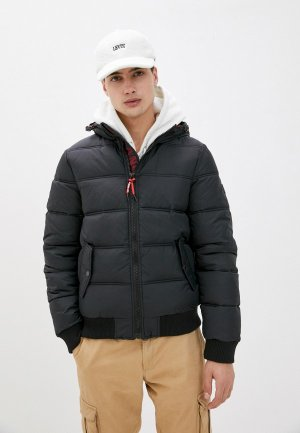 Куртка утепленная Indicode Jeans Gary. Цвет: черный