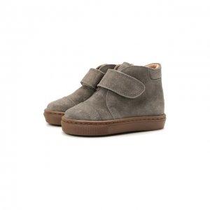 Кожаные ботинки Petit Nord. Цвет: серый