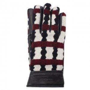 Комбинированные перчатки Giorgio Armani. Цвет: красный