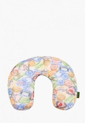 Подушка Gekoko для самолета. Цвет: бежевый