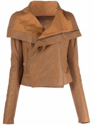 Куртка на молнии Rick Owens. Цвет: коричневый