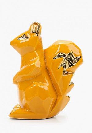 Фигурка декоративная Mandarin Decor Белка. Цвет: желтый