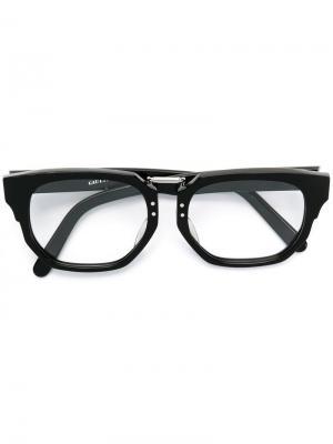 Солнцезащитные очки со съемными стеклами Jean Paul Gaultier Vintage. Цвет: черный