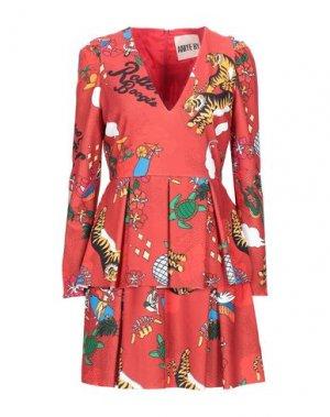 Короткое платье ANIYE BY. Цвет: ржаво-коричневый