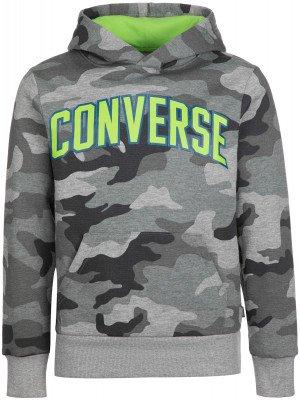 Худи для мальчиков Collegiate Camo, размер 140 Converse. Цвет: серый