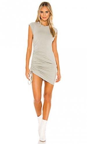 Мини платье indie LA Made. Цвет: серовато-зеленый