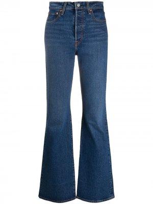 Levis джинсы Ribcage с завышенной талией Levi's. Цвет: синий