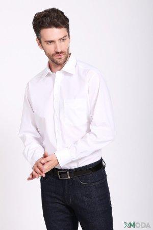 Рубашка с длинным рукавом Olymp. Цвет: белый