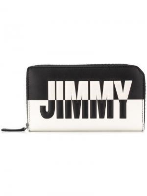 Двухцветный дорожный кошелек Carnaby Jimmy Choo. Цвет: черный