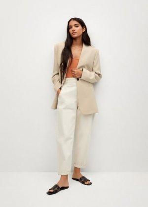Костюмный пиджак из модала - Lourdes Mango. Цвет: экрю