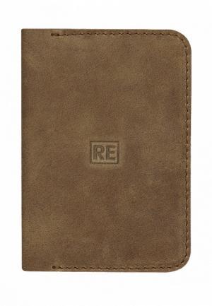 Обложка для паспорта Reconds. Цвет: зеленый