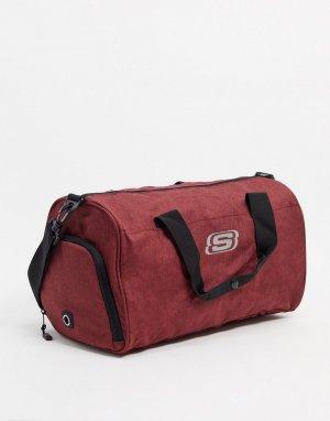 Бордовая сумка -Красный Skechers