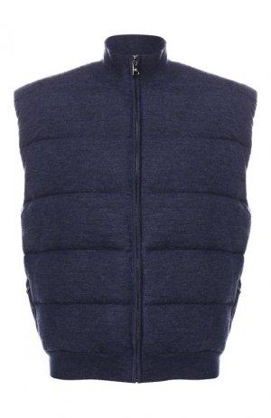 Пуховый жилет Ralph Lauren. Цвет: синий