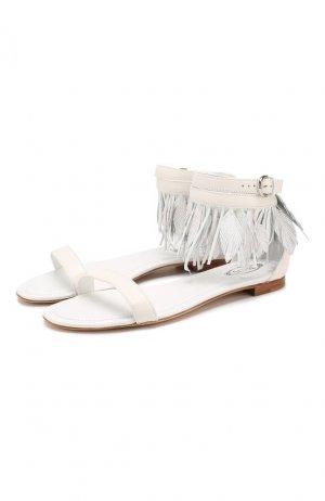 Кожаные сандалии Tod's. Цвет: белый