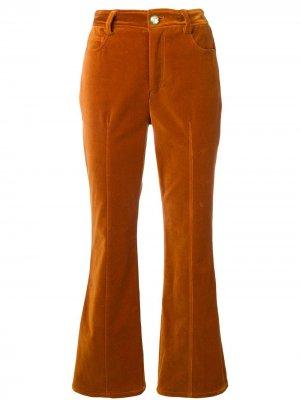 Бархатистые расклешенные брюки Derek Lam 10 Crosby. Цвет: коричневый