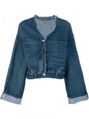 Джинсовая куртка с широкими рукавами Golden Goose Deluxe Brand. Цвет: синий