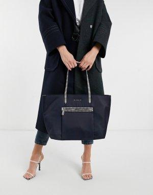 Темно-синяя сумка-тоут из нейлона Charlotte-Темно-синий Fiorelli