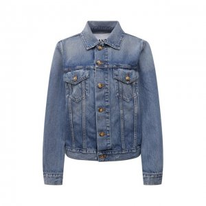 Джинсовая куртка Ganni. Цвет: голубой