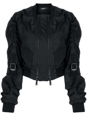 Куртка-бомбер с ремешками Dsquared2