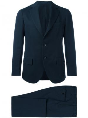 Однобортный костюм Unconstructed Mp Massimo Piombo. Цвет: синий