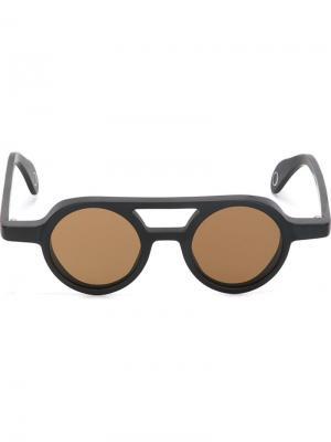 Солнцезащитные очки Bruto Monocle Eyewear. Цвет: чёрный