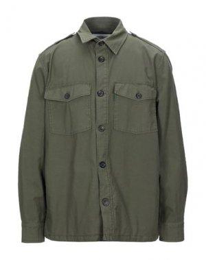Pубашка DEPARTMENT 5. Цвет: зеленый-милитари