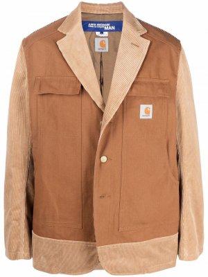 Пиджак в стиле колор-блок со вставками Junya Watanabe. Цвет: коричневый
