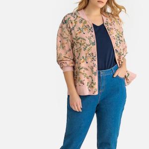 Куртка-бомбер с цветочным рисунком CASTALUNA. Цвет: цветочный рисунок фон экрю