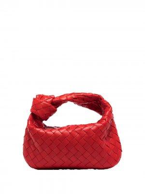 Мини-сумка Jodie с плетением Intrecciato Bottega Veneta. Цвет: красный
