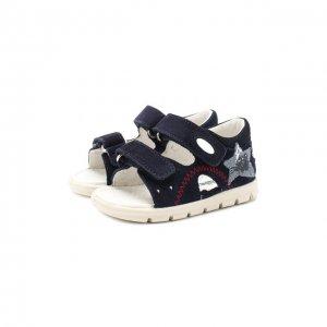 Кожаные сандалии Falcotto. Цвет: синий